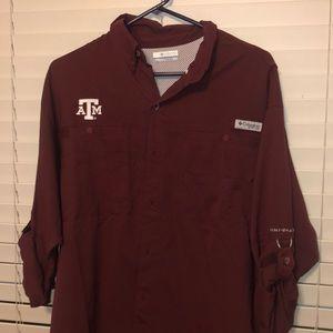 Columbia Fishing shirt- Texas A&M